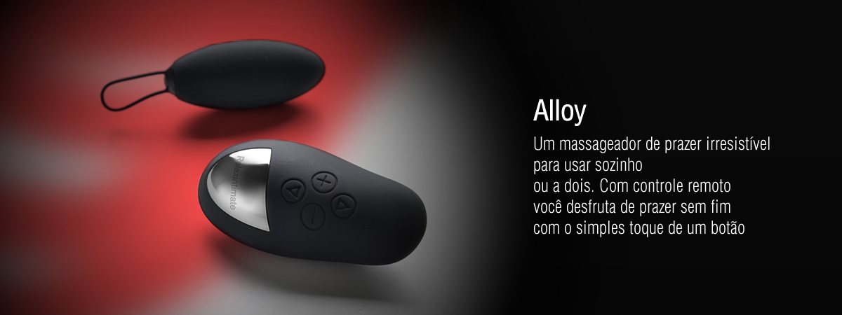Massageador Íntimo Alloy Relax Intimate Preto